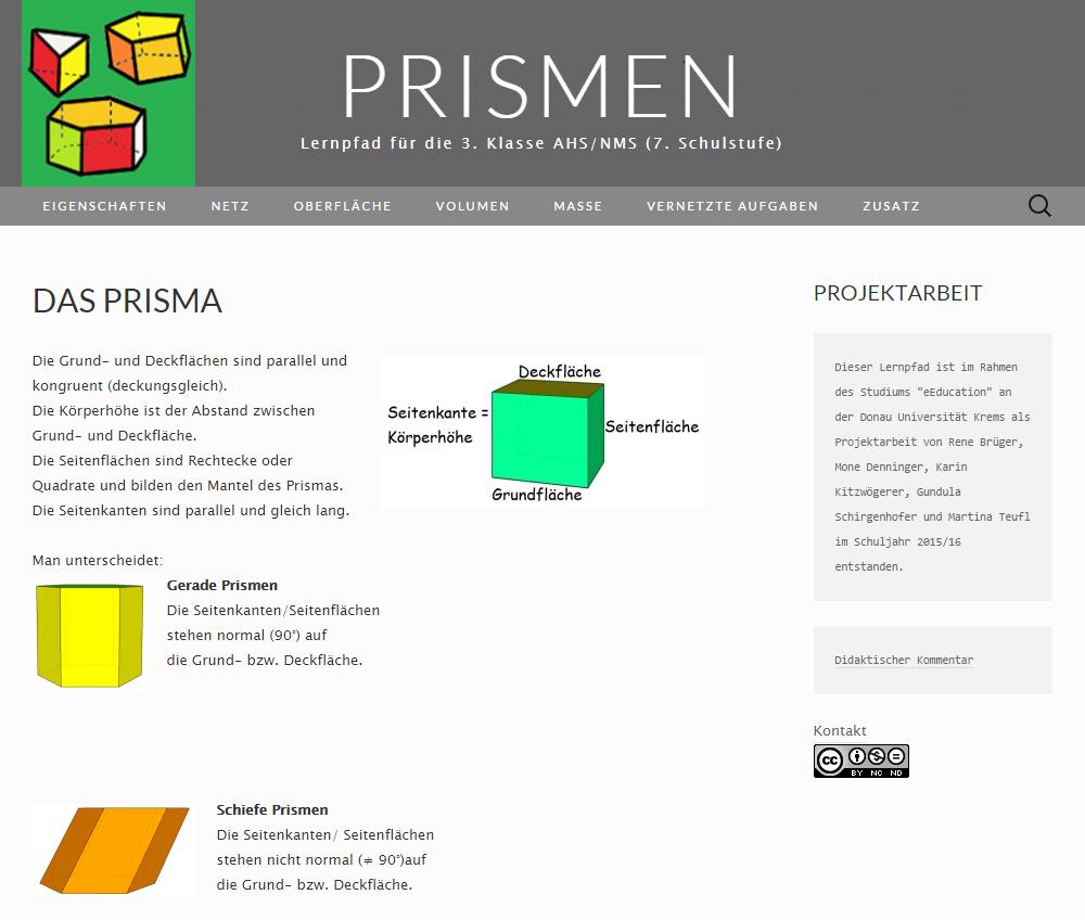 Lernpfad Prismen